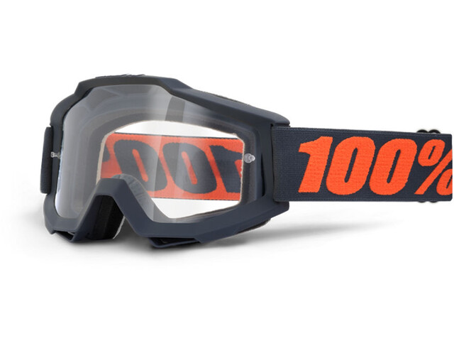 100% Accuri OTG Anti Fog Clear Goggles gunmetal